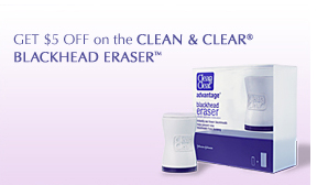 GET $5 OFF on the CLEAN & CLEAR® BLACKHEAD ERASER™